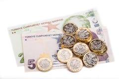 Brittiska pund och turkisk Lira Royaltyfri Bild