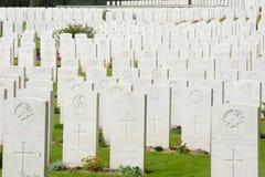 Brittiska samväldetkriggravar i Frankrike Royaltyfri Foto