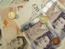 Brittiska Sterling Pounds Royaltyfria Bilder