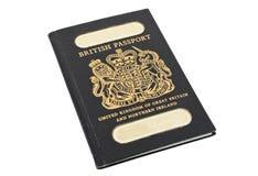 brittiskt gammalt pass Royaltyfri Bild