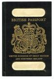 brittiskt gammalt pass Arkivfoto