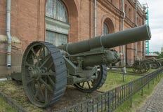brittiskt märke VI (1917) för 203-mmhaubits Vikt kg: vapen - 1640 Royaltyfri Bild