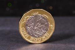 brittiskt mynt ett pund Royaltyfri Bild