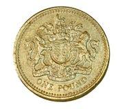 brittiskt mynt ett pund Fotografering för Bildbyråer