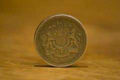 brittiskt mynt ett pund Arkivbilder