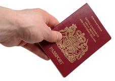 brittiskt pass Fotografering för Bildbyråer