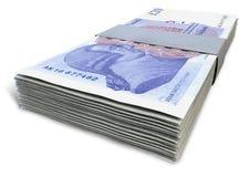 Brittiskt pund Sterling Notes Bundles Royaltyfri Foto