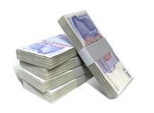 Brittiskt pund Sterling Notes Bundles Stack Arkivfoton