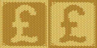 Brittiskt pundtecken, symbol Royaltyfria Bilder
