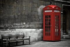 Brittiskt telefonbås Arkivbild