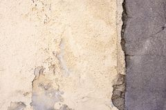 A brittle old wall with crack. As a background royalty free stock photo