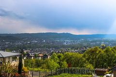 Brive-Λα-Gaillarde που βλέπει από το Λα Pigeonnie, Λιμουζέν, Γαλλία Στοκ φωτογραφία με δικαίωμα ελεύθερης χρήσης