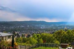 Brive-La-Gaillarde gesehen vom La Pigeonnie, Limousin, Frankreich Lizenzfreies Stockfoto