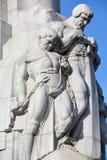 Brivibas piemineklis浅浮雕, 免版税库存照片