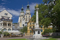 Brixen. View of the Cathedral of the South Tyrolean town of Brixen royalty free stock photos