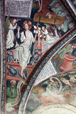 Brixen Cathedral, romanesque frescoes, cloister detail - South Tyrol Stock Images