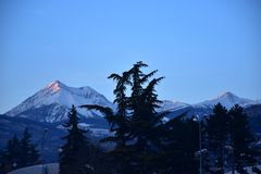 Brixen Alps before the sunset. Brixen Italien, the Best of the Alps and sunset Stock Photography