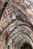 Brixen - Splendid romanesque frescoes, Cathedral cloister - South Tyrol Royalty Free Stock Photo