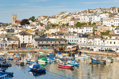Brixham Devon England during the heatwave of Summer 2013 Stock Image