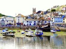 Brixham, Devon, het UK. Royalty-vrije Stock Afbeelding