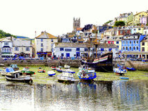 Brixham Devon, UK. Royaltyfri Bild