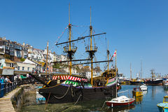BRIXHAM, DEVON/UK - JULY 28 : View of the Golden Hind in the har Royalty Free Stock Image
