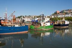 Brixham Hafen Stockbild