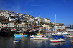 Brixham Harbour. Boats moored in Brixham harbour Stock Images