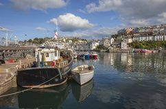 Brixham harbour, Devon, England royalty free stock photography