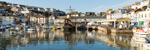 Brixham harbour Devon England during the heatwave of Summer 2013 Stock Photos