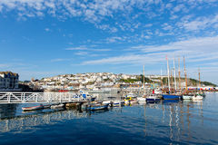 Brixham marina Devon with boats and jetty Stock Images