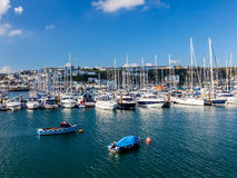 Brixham Marina Devon het UK stock foto's