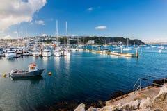 Brixham Marina Devon UK. Sunny day at Brixham Marina Torbay Devon England UK Europe royalty free stock photo