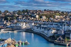 Brixham in South Devon. The fishing port of Brixham in Devon stock images