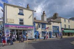 Brixham Torbay (engelska Riviera) Devon Endland UK färgrik colou Arkivfoton