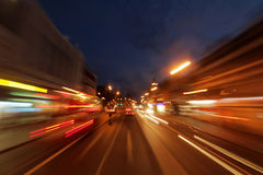 Brixton centre at night. Dynamic picture of Brixton centre, London,  at night Stock Photos