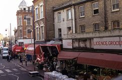 Brixton market, London Royalty Free Stock Image