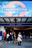 Brixton station Fotografering för Bildbyråer