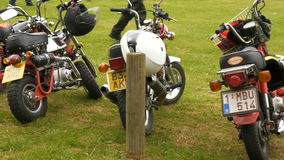 Brixworth, England, UK - MAY 27: unidentified mini motorcycle bikers in Brixworth Country Park stock video footage