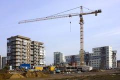 Början av byggnad Arkivfoto