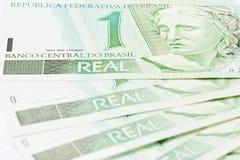 BRL för brasilian 1 valuta Royaltyfri Foto
