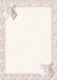 bröllop för bowskortinbjudan Arkivfoto