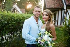 bröllop för brudgum för brudceremonikyrka Fotografering för Bildbyråer