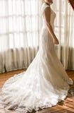 bröllop för klänningfragmentbeställning Royaltyfri Fotografi