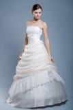 bröllop för klänningmodemodell Arkivfoton