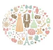 Bröllopkort Royaltyfri Foto