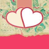 Bröllopkort eller inbjudan med blom-. EPS 8 Arkivfoton