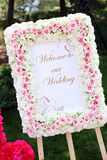 Bröllopmottagande Arkivbilder