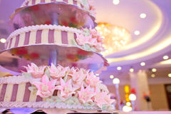 Bröllopstårta för traditionell kines Royaltyfria Bilder