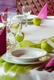 Brölloptabell Royaltyfri Fotografi